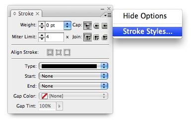 Creating a new Stroke Style