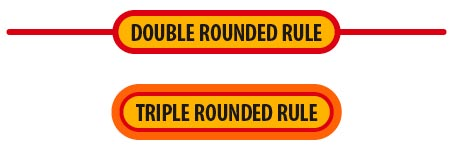 Double and triple rounded rule effects in InDesign
